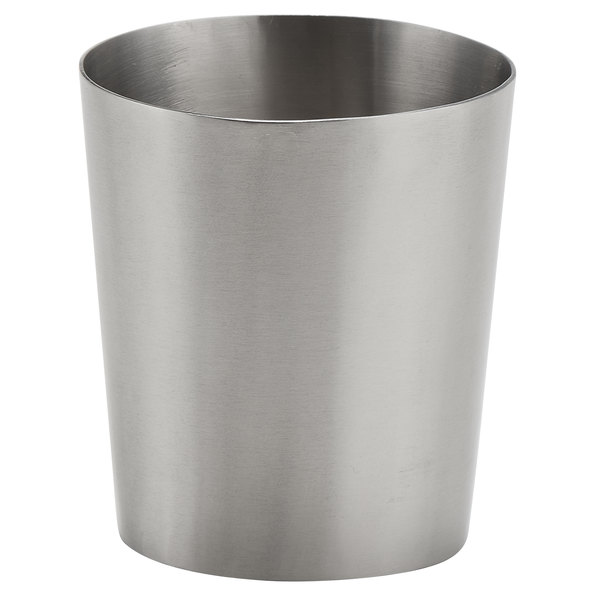 American Metalcraft FCS55 5.5 oz. Stainless Steel Oval French Fry Cup with Satin Finish
