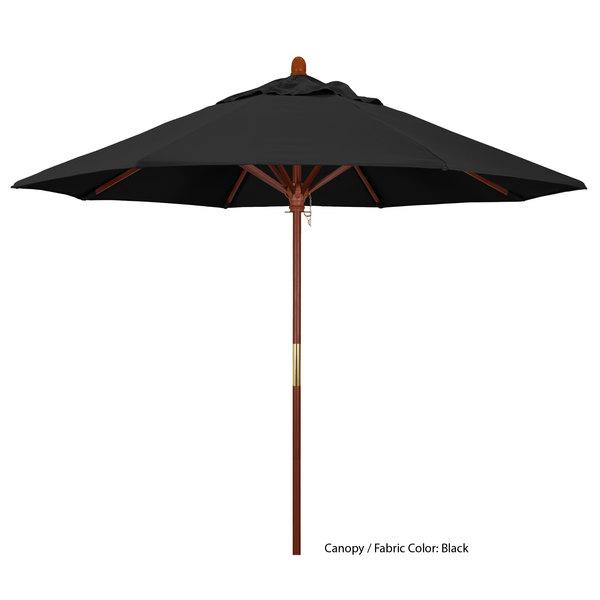 "California Umbrella MARE 908 PACIFICA Grove 9' Round Push Lift Umbrella with 1 1/2"" Hardwood Pole - Pacifica Canopy Main Image 1"