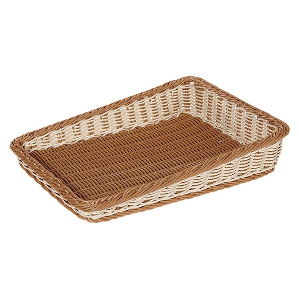 "GET WB-1514-TT Designer Polyweave 23 1/2"" x 17 1/2"" Two-Tone Cascading Plastic Basket - 6/Pack Main Image 1"