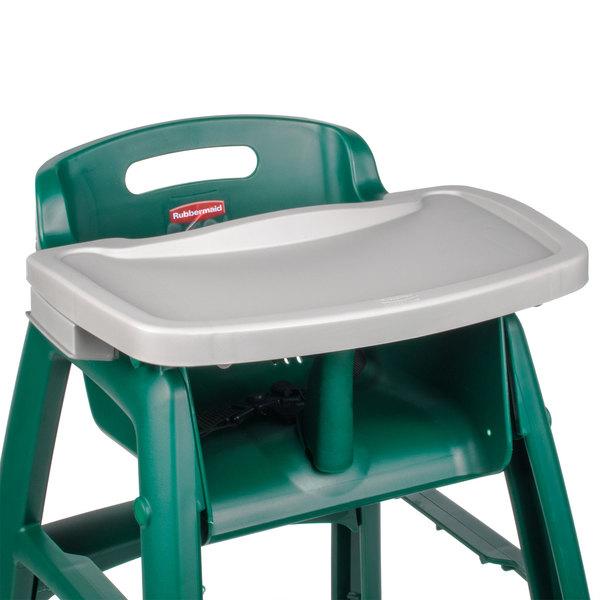 Rubbermaid FG781588PLAT Platinum Restaurant High Chair Tray