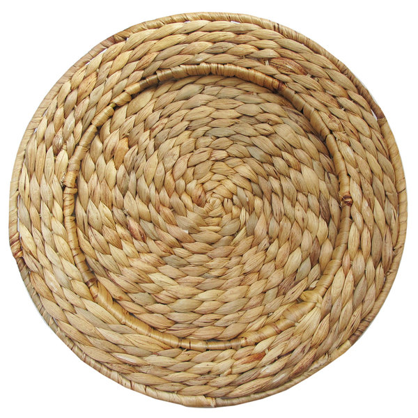 """The Jay Companies 1660158 13"""" Round Rattan Charger Plate"""