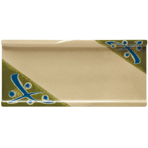 "GET 140-1-TD Japanese Traditional Rectangular Plate 9 1/2"" x 4 1/4"" - 12/Case"