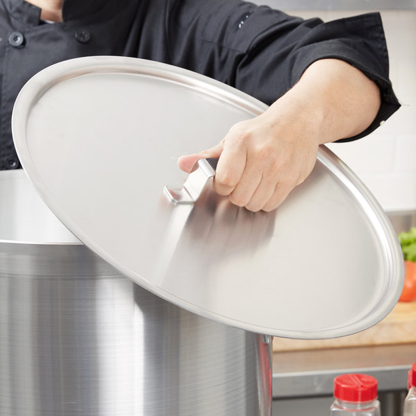 "Vollrath 67561 Wear-Ever Flat Aluminum Pot / Pan Cover with Torogard Handle 17 1/8"""