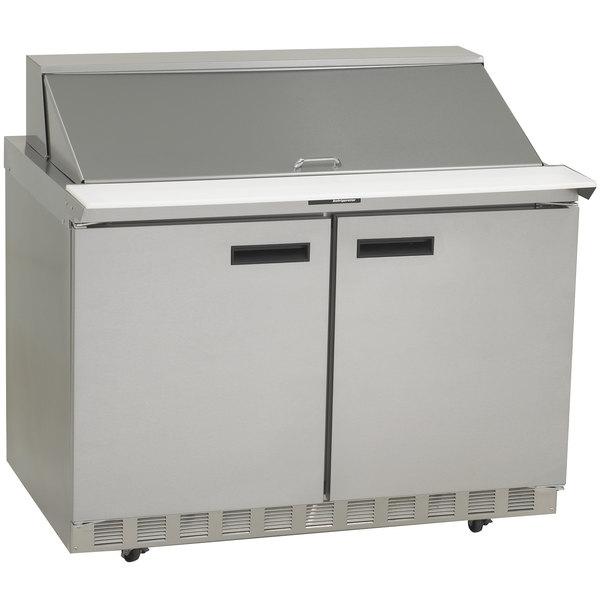 "Delfield 4448N-18M 48"" 2 Door Mega Top Refrigerated Sandwich Prep Table Main Image 1"