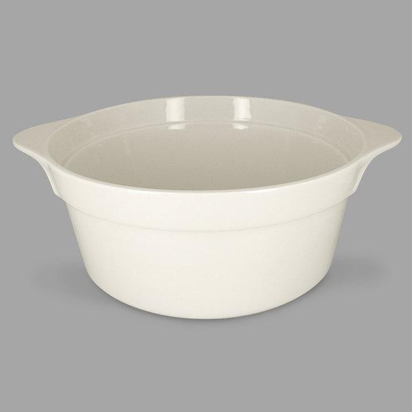 RAK Porcelain CFRD28WHBD Chef's Fusion 155.6 oz. Sand White Round Porcelain Cocotte