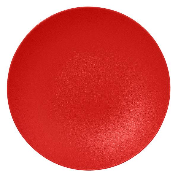 "RAK Porcelain NFBUBC30BR Neo Fusion 11 13/16"" Ember Red Porcelain Deep Coupe Plate - 6/Case"