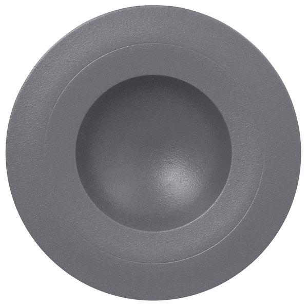 "RAK Porcelain NFGDDP29GY Neo Fusion 11 3/8"" Stone Gray Porcelain Deep Plate - 6/Case"