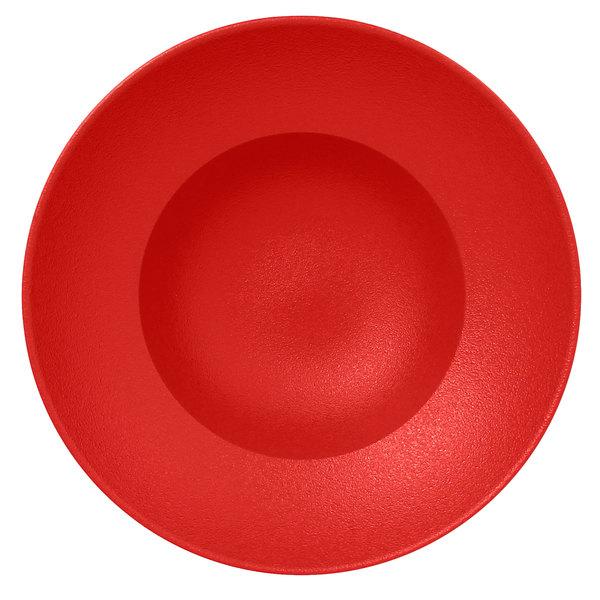 "RAK Porcelain NFCLXD23BR Neo Fusion 9 1/16"" Ember Red Porcelain Extra Deep Plate - 6/Case"