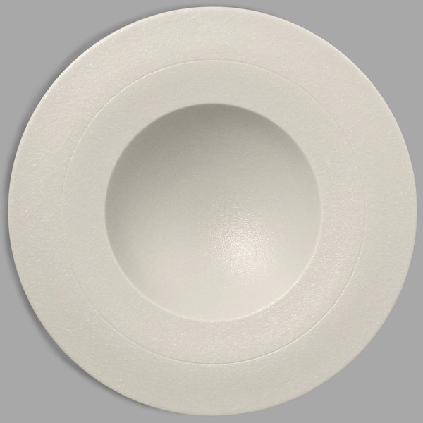 "RAK Porcelain NFGDDP29WH Neo Fusion 11 3/8"" Sand White Porcelain Deep Plate - 6/Case"