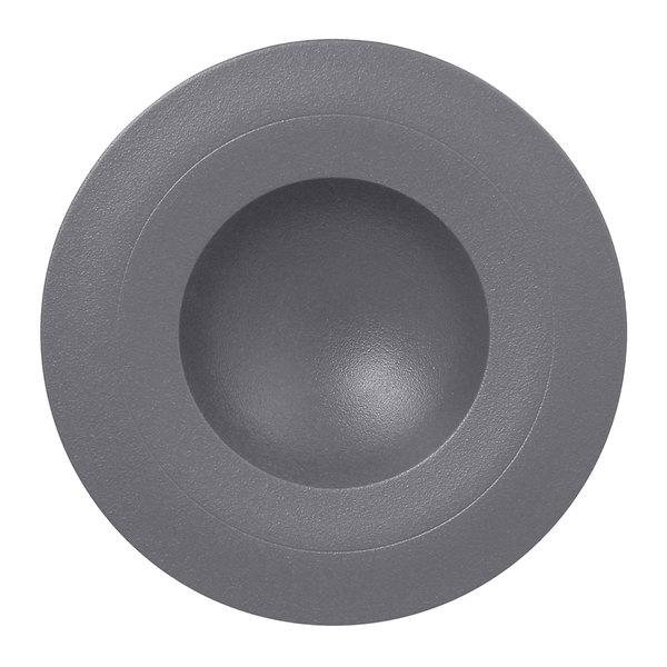 "RAK Porcelain NFGDDP23GY Neo Fusion 9 1/16"" Stone Gray Porcelain Deep Plate - 6/Case"