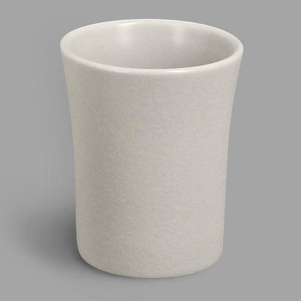 RAK Porcelain NFSPCU09WH Neo Fusion 3.1 oz. Sand White Porcelain Cup - 12/Case Main Image 1