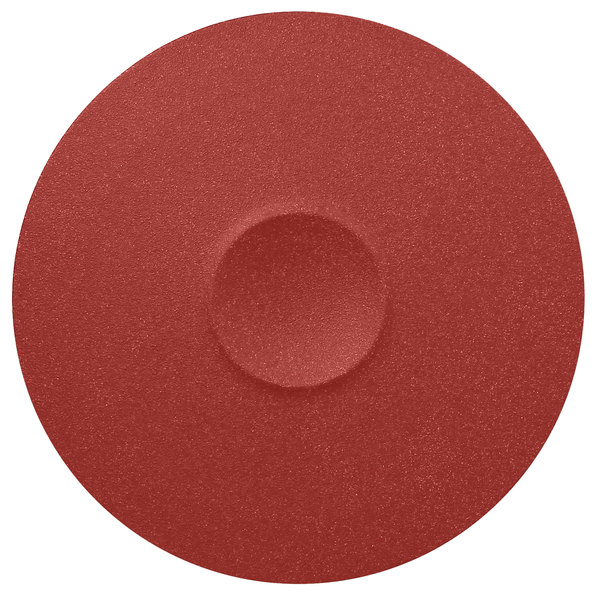 "RAK Porcelain NFMRFP30DR Neo Fusion 11 13/16"" Magma Dark Red Porcelain Plate - 6/Case"
