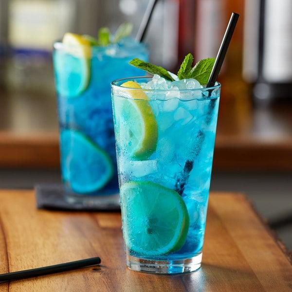 Monin 1 Liter Premium Blue Cotton Candy Flavoring Syrup Main Image 2