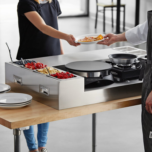 Carnival King 60-Piece Deluxe Butane Made-To-Order Crepe Station Main Image 3