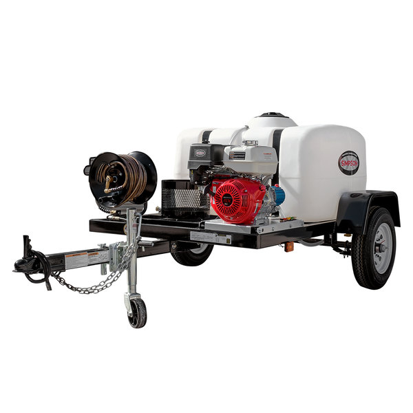 Simpson 1B-95002 49-State Compliant Trailer Pressure Washer with Honda Engine and 150 Gallon Water Tank - 4200 PSI; 4.0 GPM Main Image 1
