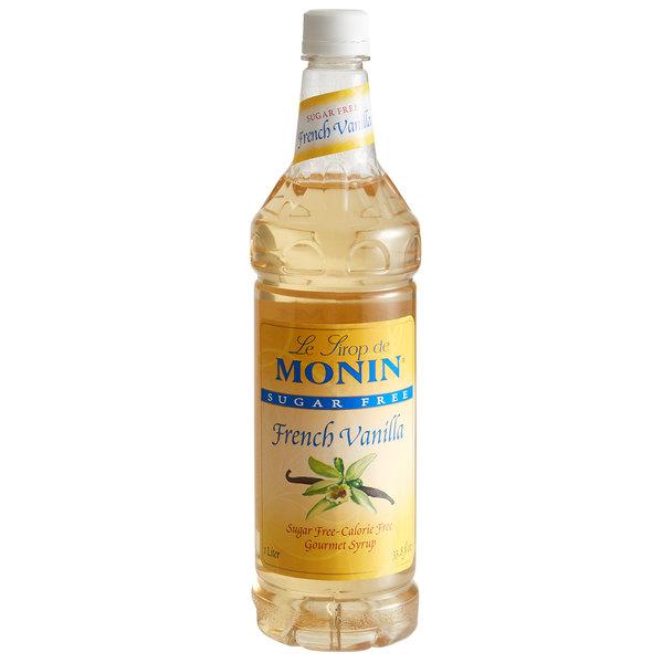 Monin 1 Liter Sugar Free French Vanilla Flavoring Syrup