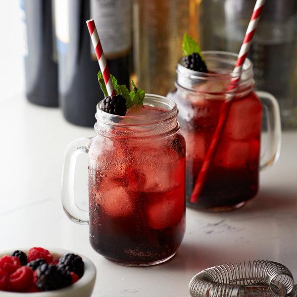 Monin 1 Liter Premium Black Raspberry Flavoring Syrup Main Image 2