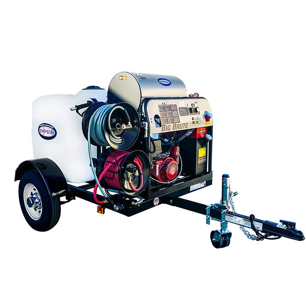 Simpson 95005 Trailer Pressure Washer with Honda Engine, 200 Gallon Water  Tank, and 12V Battery Included - 4000 PSI
