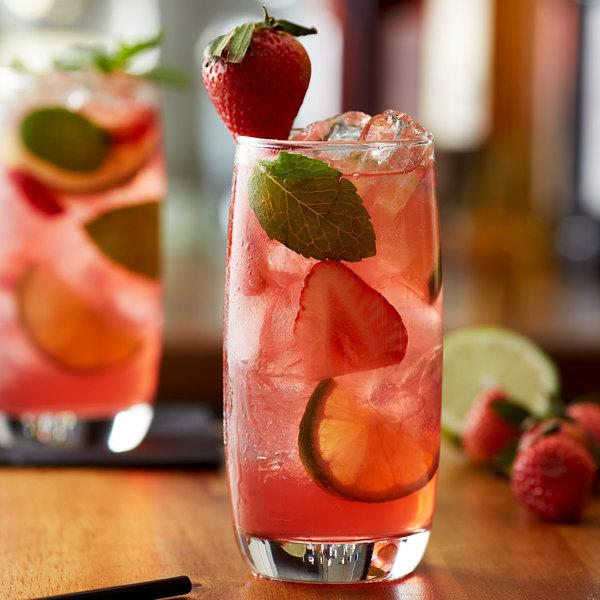 Monin 1 Liter Premium Wild Strawberry Flavoring Syrup Main Image 2