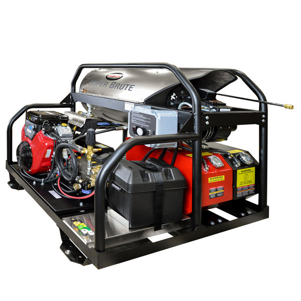 Simpson 65110 Super Brute Hot Water Pressure Washer with Vanguard Engine and 50' Hose - 3500 PSI; 5.5 GPM Main Image 1