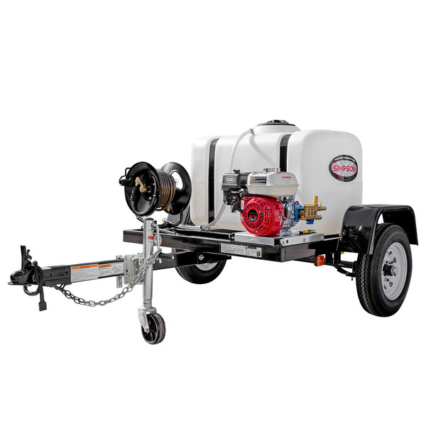 Simpson 1A-95000 Trailer Pressure Washer with Honda Engine and 100 Gallon Water Tank - 3200 PSI; 2.8 GPM Main Image 1