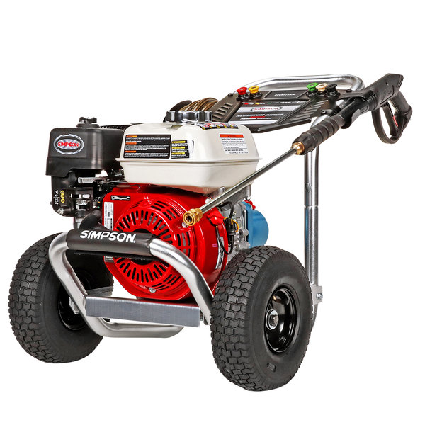 Simpson 60735 Aluminum Series Pressure Washer with Honda Engine and 25' Hose - 3400 PSI; 2.5 GPM Main Image 1