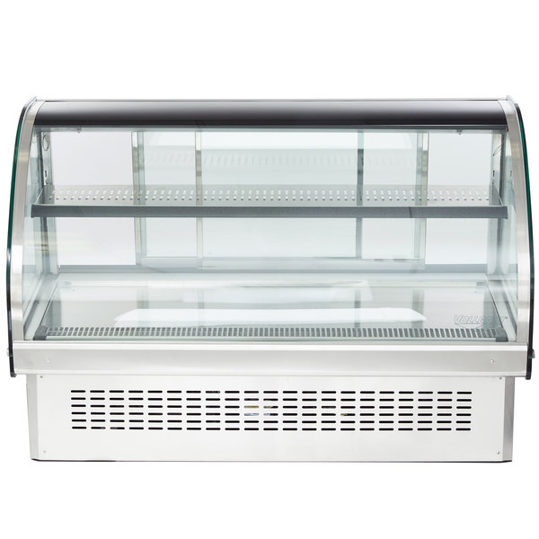 Vollrath 40843 48 Curved Glass Drop In Refrigerated Countertop Display Cabinet
