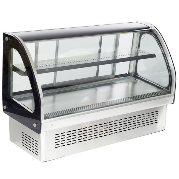 "Vollrath 40843 48"" Curved Glass Drop In Refrigerated Countertop Display Cabinet Main Image 1"