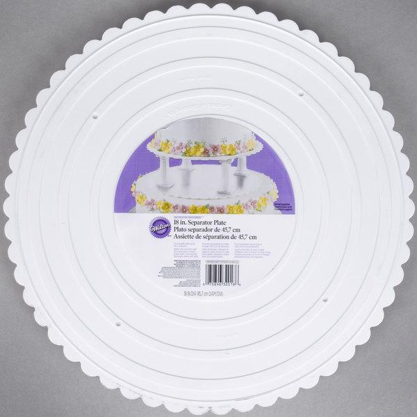 Wilton 302-18 Decorator Preferred Round Scalloped Edge Cake Separator Plate - 18\  & Wilton 302-18 Decorator Preferred Round Scalloped Edge Cake ...