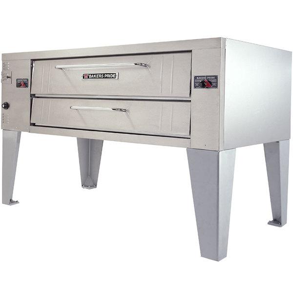 "Bakers Pride Y-800BL Super Deck Y Series Liquid Propane Brick Lined Single Deck Pizza Oven 66"" - 120,000 BTU"