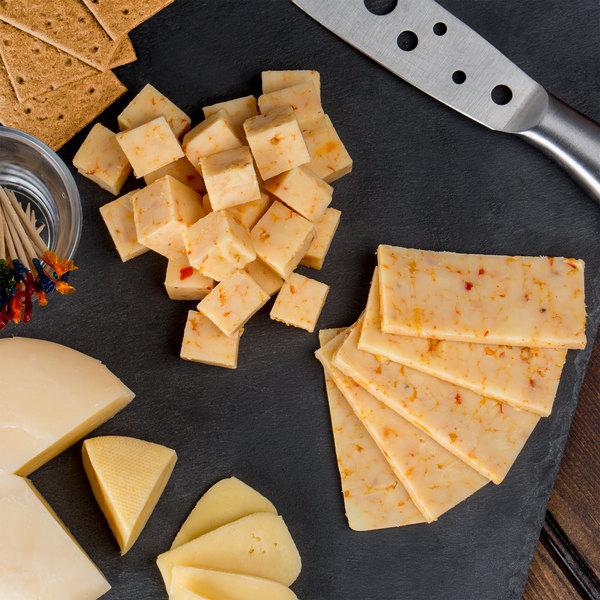 5 lb. Habanero Cheddar Cheese Block - 8/Case