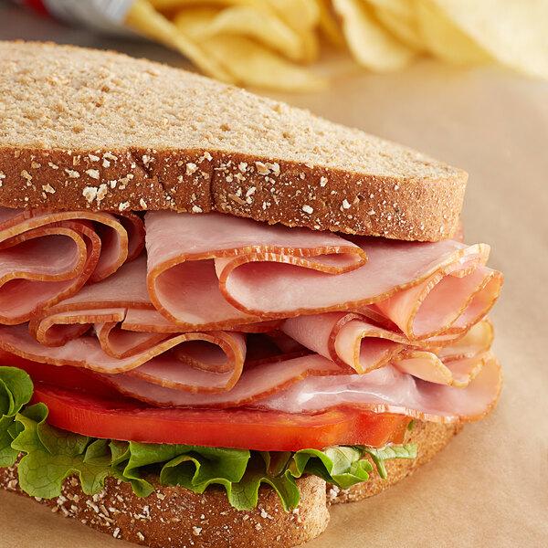 Kunzler 11 lb. Shankless Skinless Cooked Ham - 3/Case Main Image 2