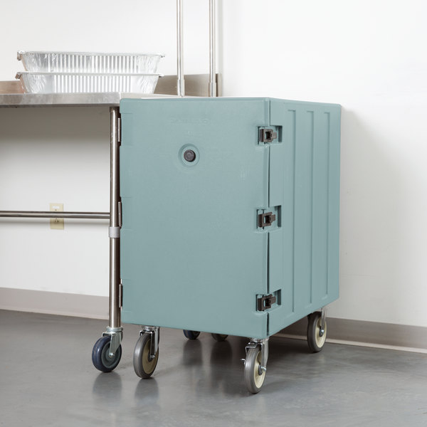 """Cambro 1826LTC401 Camcart Slate Blue Mobile Cart for 18"""" x 26"""" Sheet Pans and Trays Main Image 4"""
