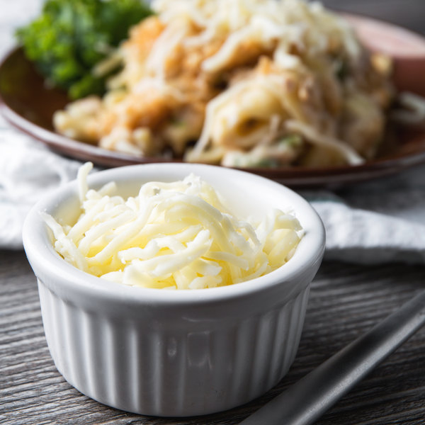 5 lb. Part Skim Milk Shredded Mozzarella Cheese - 4/Case