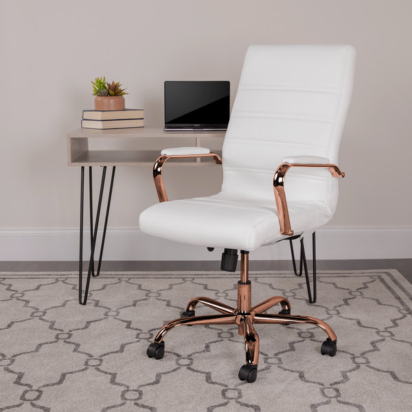 Flash Furniture Go 2286h Wh Rsgld Gg