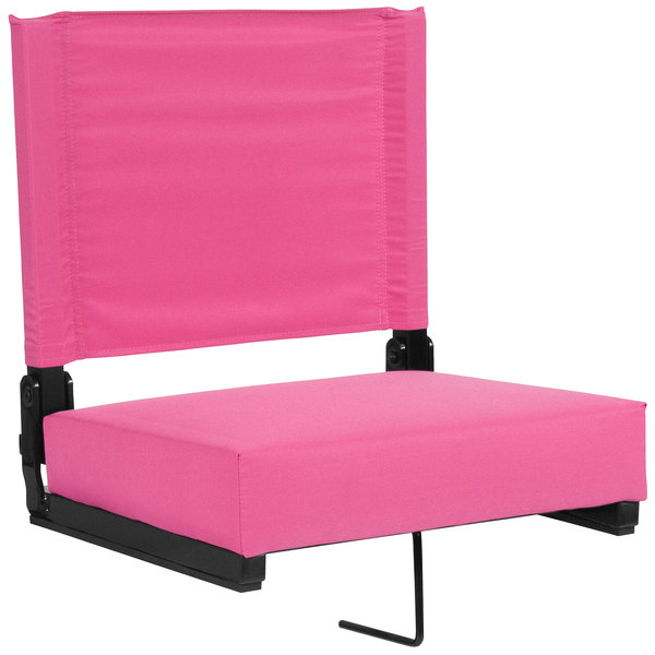 Flash Furniture XU-STA-PK-GG Grandstand Pink Ultra-Padded Bleacher Comfort Seat Main Image 1