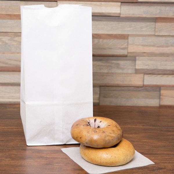 Duro 8 lb. White Paper Bag - 500/Bundle