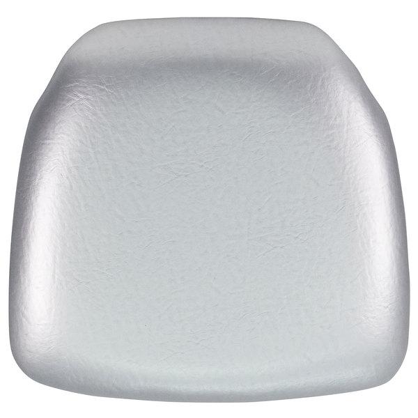 """Flash Furniture BH-SIL-HARD-VYL-GG Silver Hard Vinyl Chiavari Chair Cushion - 2"""" Thick Main Image 1"""