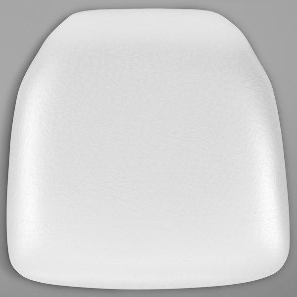 "Flash Furniture BH-WH-HARD-VYL-GG White Hard Vinyl Chiavari Chair Cushion - 2"" Thick Main Image 1"