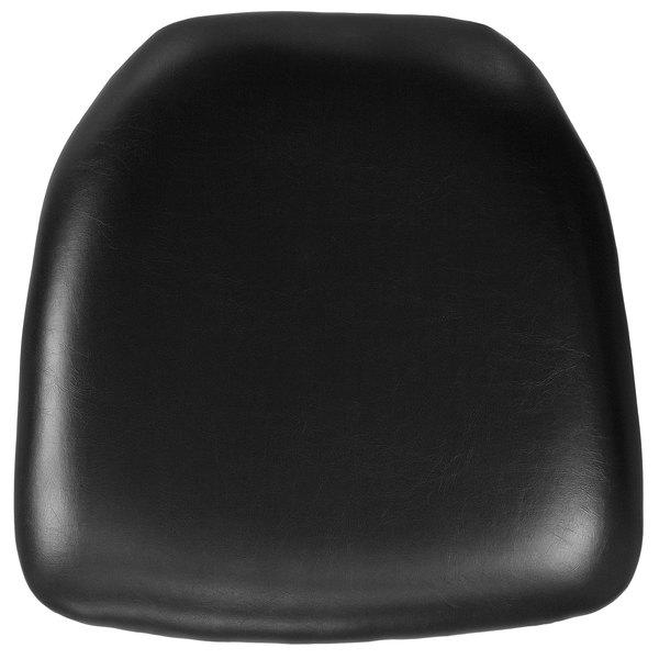 """Flash Furniture BH-BK-HARD-VYL-GG Black Hard Vinyl Chiavari Chair Cushion - 2"""" Thick Main Image 1"""