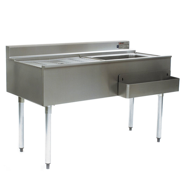 """Eagle Group CWS4-18R 48"""" Underbar Work Station with Right Mount Ice Bin and Drain Board"""