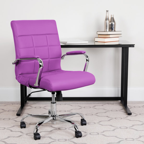 Cool Flash Furniture Go 2240 Pur Gg Mid Back Purple Quilted Vinyl Office Chair Cjindustries Chair Design For Home Cjindustriesco