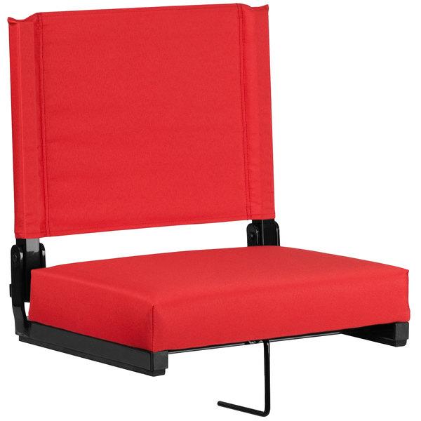 Flash Furniture XU-STA-RED-GG Grandstand Red Ultra-Padded Bleacher Comfort Seat Main Image 1