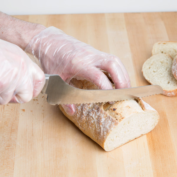 """9"""" Serrated Bread Knife with Offset POM Handle"""