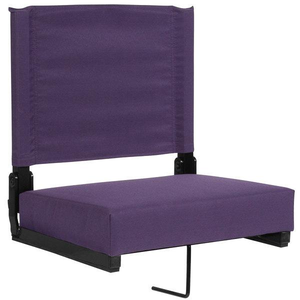 Flash Furniture XU-STA-DKPUR-GG Grandstand Dark Purple Ultra-Padded Bleacher Comfort Seat Main Image 1