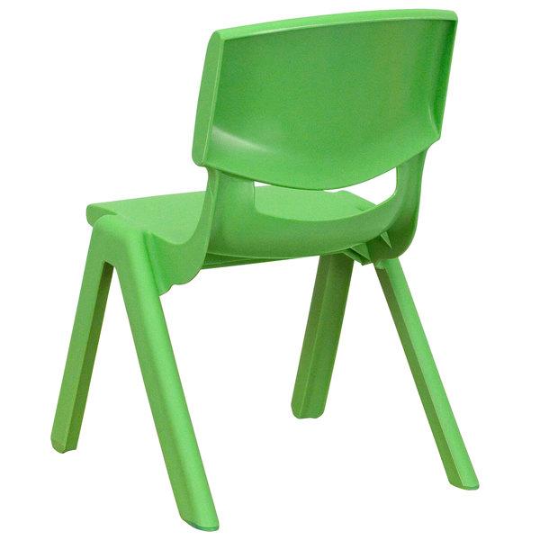 Flash Furniture YU-YCX-003-GREEN-GG Green Plastic Stackable School Chair