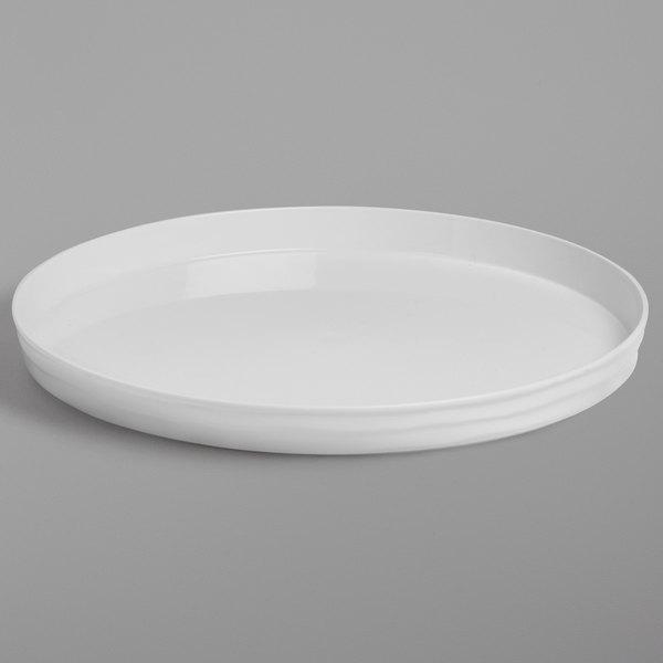American Metalcraft Bl12w Del Mar 12, Coffee Table Tray Round White
