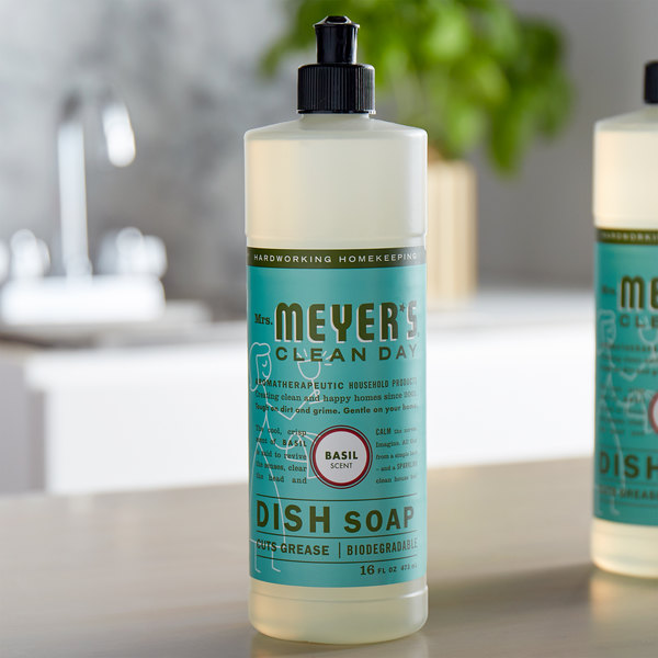 Mrs. Meyer's Clean Day 651202 16 oz. Basil Scented Dish Soap - 6/Case Main Image 3
