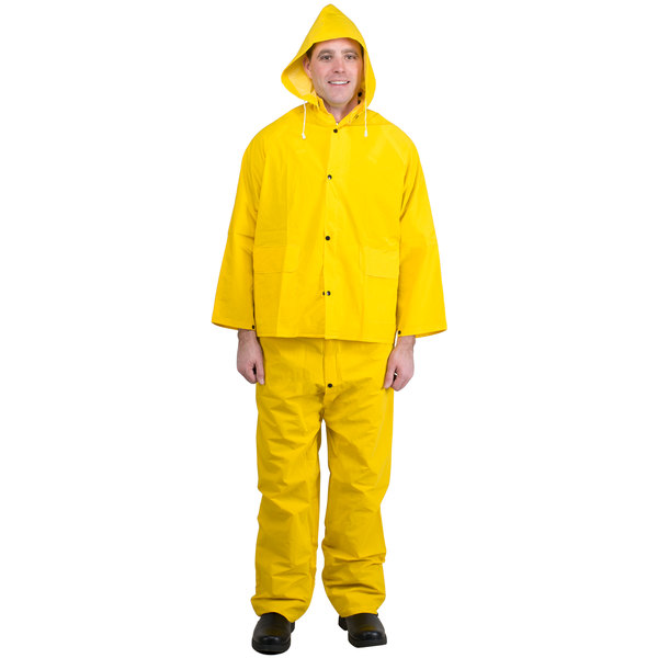 Yellow 3 Piece Rainsuit - XL