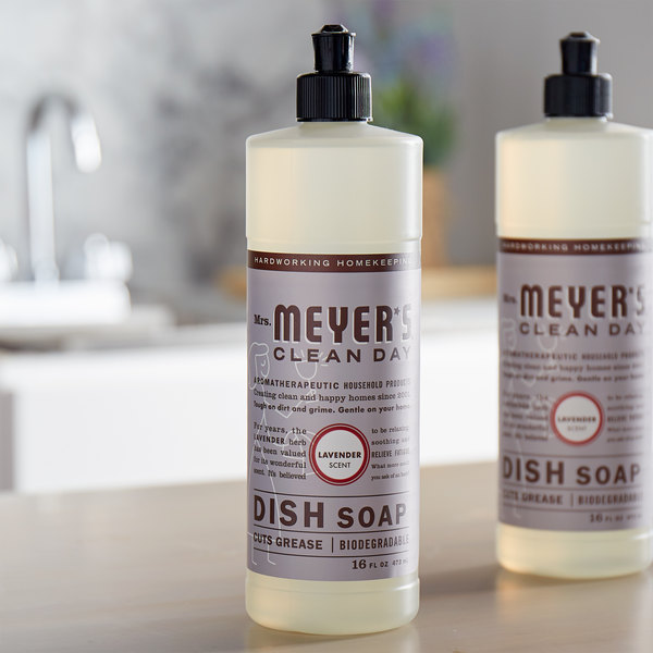 Mrs. Meyer's Clean Day 650391 16 oz. Lavender Scented Dish Soap - 6/Case Main Image 3